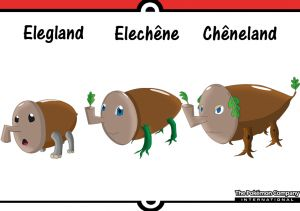 De gauche à droite: Elégland, Eléchêne et Chêneland.
