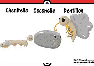 De gauche à droite: Chenitelle, Coconelle et Dentillon.